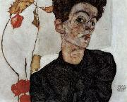 Egon Schiele Self-portrait oil painting picture wholesale